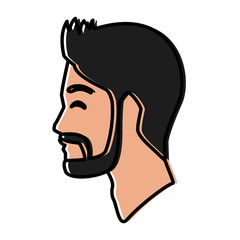 Man silhouette head icon vector illustration graphic design