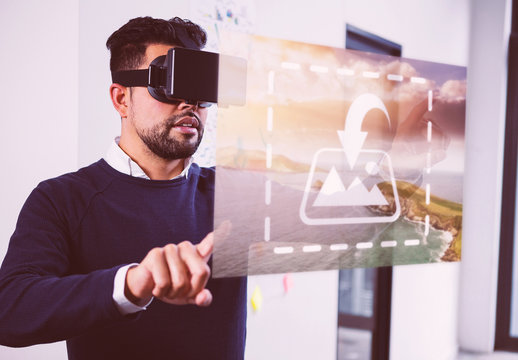 VR Mockup of Business Man in Office 1