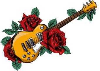 Chitarra con rose