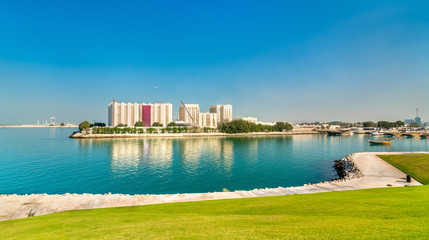 View of Flour Mills in Doha, the capital of Qatar.