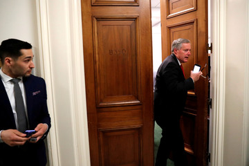 Lawmakers hold meetings ahead the U.S. Capitol ahead of a potential government operations shutdown in Washington