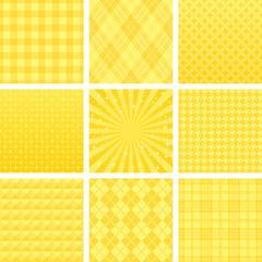 黄色 広告背景 9種