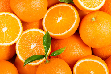 Wall Mural - Picked orange fruits.