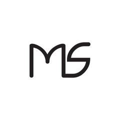 initial letter rounded logo modern