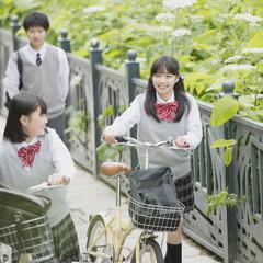 学生の通学風景