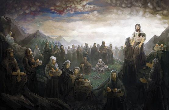 Jesus feed 5000 people