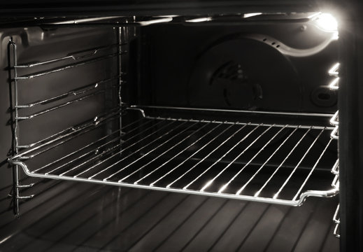 Modern empty oven, closeup