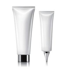 White cosmetic tube set