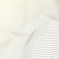 Abstract wave vector background. Illustration with lines