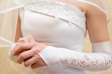 bride is nervous