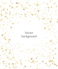 Vector stars background for text. Vector illustration with gold stars on the white background.