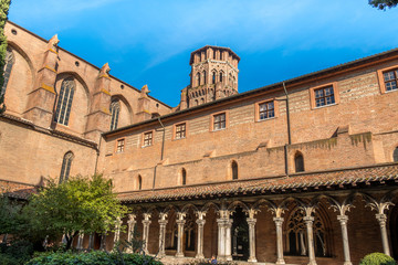 Cloister of Augustins on a sunny day in Toulouse France