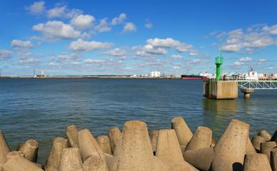 Port on the Baltic sea.