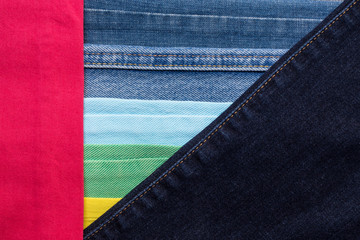 Colorful jeans texture background