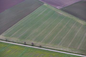 Feld Luftaufnahme