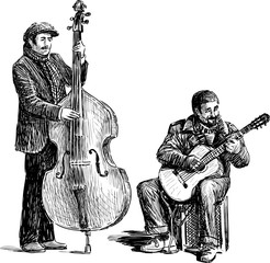 Sketch of the street musicians