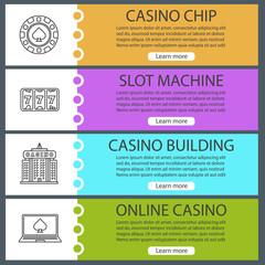 Casino web banner templates set