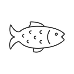 Fish linear icon