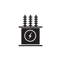 Electric transformer vector icon