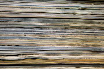 Texture of magazines