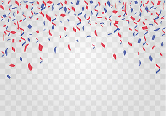 Colorful confetti isolated. Festive vector background