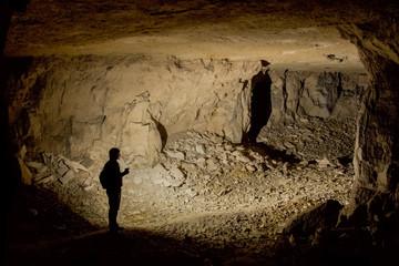Galleries for limestone mining in the village of Shiryaevo, Samara Region, Russia