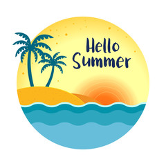 Round Summer Beach Background