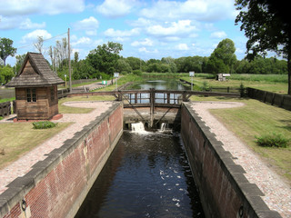 Sluice in Debowo in Poland - the first sluice on the Augustów Canal
