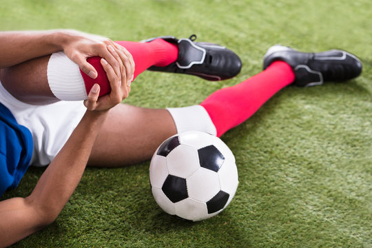 Injured Soccer Player On Field