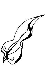 vector sketch field grass leaf