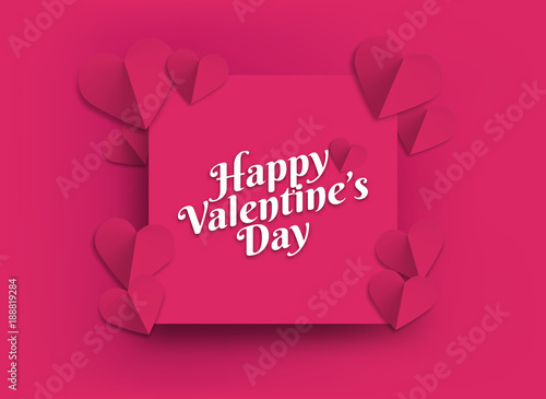 Illustration of hearts of pink color  Background hearts for