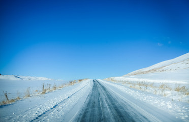On the winter road