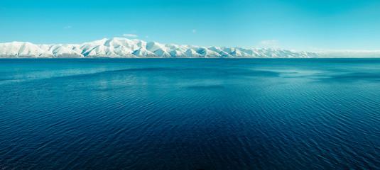 Sevan lake in winter