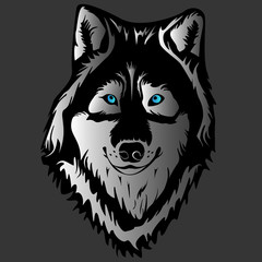 WOLF FACE TATTOO GREY