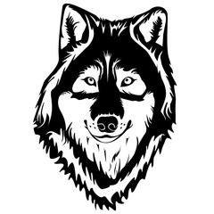 WOLF FACE TATTOO WHITE