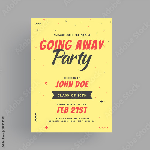 Farewell Party Banner Or Invitation Card Design Stock Image And