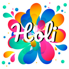Indian Festival of Colours, Happy Holi celebration design.