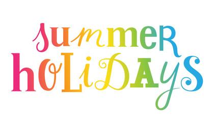 SUMMER HOLIDAYS custom letters icon