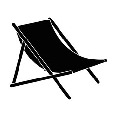 Wall Mural - beach chair isolated icon vector illustration design