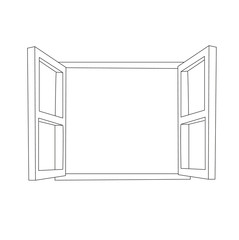 isolated sketch, window