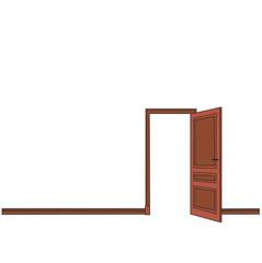 vector, isolated open door