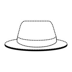 summer fashion hat icon vector illustration design