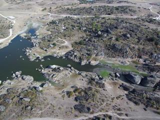 Malpartida de Cáceres y los Barruecos, pueblo y parque natural español de la provincia de Cáceres, Extremadura (España)