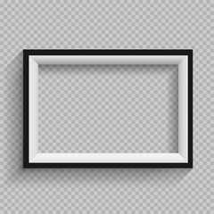 black and white frame transparent