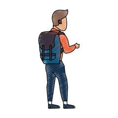 Mountain climber cartoon icon vector illustration graphic design