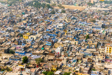 view over the houses of Chittorgarh, Rajasthan