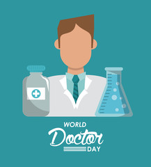World doctor day icon vector illustration graphic design