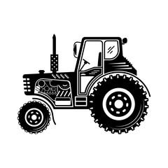 Black tractor icon.