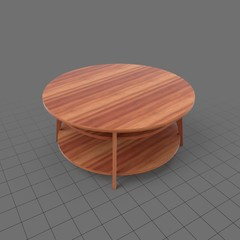 Round wood side table 2