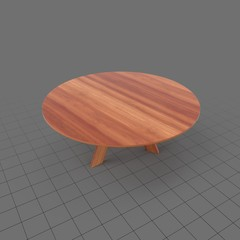 Round wood side table 1